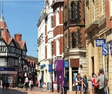 2,177 SF High Street Shop for Rent  |  1 - 2 Hope Street, Wrexham, LL11 1BG