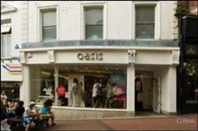 868 SF High Street Shop for Rent  |  23 Old Christchurch Road, Bournemouth, BH1 1DR