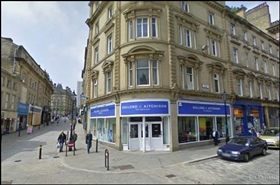 1,097 SF High Street Shop for Rent  |  2 Crown Street, Halifax, HX1 1TT