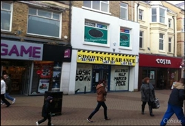 2,130 SF High Street Shop for Rent  |  32 - 34 High Street, Rhyl, LL18 1ET