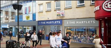 1,018 SF High Street Shop for Rent  |  3 The Marlets, Crawley, RH10 1ER