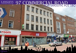 2,777 SF High Street Shop for Rent  |  97 Commercial Road, Portsmouth, PO1 1BQ