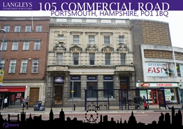 2,056 SF High Street Shop for Rent  |  105 Commercial Road, Portsmouth, PO1 1BQ