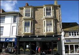 1,120 SF High Street Shop for Rent  |  25 - 26 Market Jew Street, Penzance, TR18 2HR