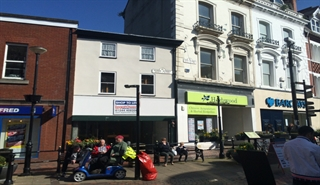 776 SF High Street Shop for Rent  |  24 Queen Street, Wrexham, LL11 1AL