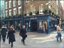 1,244 SF High Street Shop for Rent | 44 - 45 Carnaby Street, London, W1F 9PP