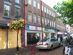 1,135 SF High Street Shop for Rent  |  54 Ironmarket, Newcastle under Lyme, ST5 1PE