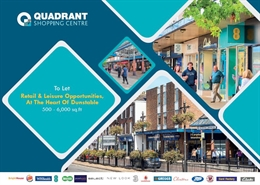 1,078 SF Shopping Centre Unit for Rent  |  Quadrant Shopping Centre, Dunstable, LU5 4RH