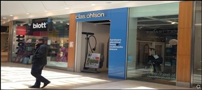 410 SF Shopping Centre Unit for Rent  |  Unit 244a, Intu Chapelfield, Norwich, NR1 3SH
