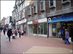 1,260 SF High Street Shop for Rent  |  39 Hope Street, Wrexham, LL11 1BB