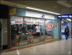 1,876 SF Shopping Centre Unit for Rent  |  Unit 27, Sovereign Centre, Weston Super Mare, BS23 1HL