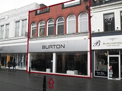 600 SF High Street Shop for Rent  |  14 - 16 Burlington Street, Chesterfield, S40 1RR