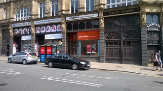 393 SF High Street Shop for Rent  |  Unit 1, Leeds, LS1 6BX