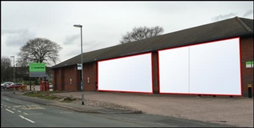 4,800 SF High Street Shop for Rent  |  Unit B, Co-Operative, Rugeley, WS15 2NH