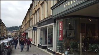 2,465 SF High Street Shop for Rent  |  19 Milsom Street, Bath, BA1 1DE