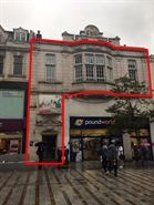 2,955 SF High Street Shop for Rent  |  First Floor, 16/17 Kirkgate, Leeds, LS1 6BY