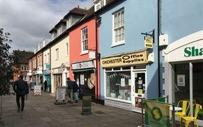 498 SF High Street Shop for Rent  |  4 Crane Street, Chichester, PO19 1LH