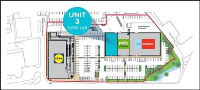 6,000 SF Out of Town Shop for Rent  |  Unit 3, Haverhill Retail Park, Haverhill, CB9 8QJ