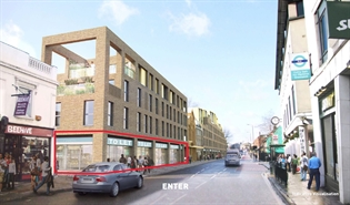 5,089 SF High Street Shop for Rent  |  Block 1, Mariner's Parade, Greenwich, SE10 9RB