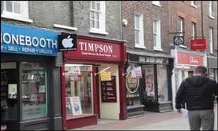 435 SF High Street Shop for Rent  |  53A High Street, Kings Lynn, PE30 1BE