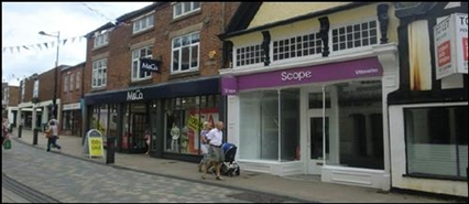 953 SF High Street Shop for Rent  |  26 High Street, Uttoxeter, ST14 7HT