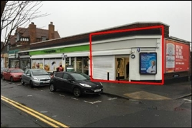 939 SF High Street Shop for Rent  |  449 Birmingham Road, Sutton Coldfield, B72 1AX