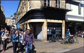 636 SF High Street Shop for Rent  |  15 Market Hill, Cambridge, CB2 3NP