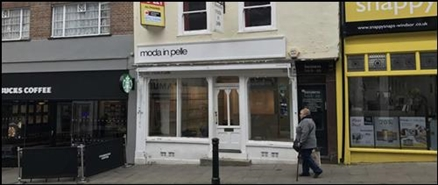 432 SF High Street Shop for Rent  |  140 Peascod Street, Windsor, SL4 1DS