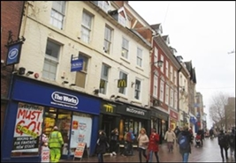2,293 SF High Street Shop for Rent  |  11 Pride Hill, Shrewsbury, SY1 1DQ