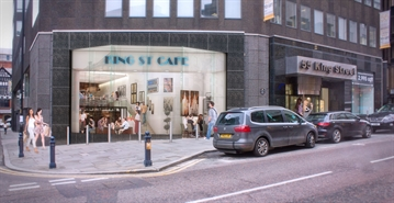 2,314 SF High Street Shop for Rent  |  Unit 1, 55 King Street, Manchester, M2 4LQ