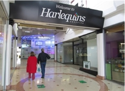 1,125 SF Shopping Centre Unit for Rent  |  Unit 21, Harlequins Shopping Centre, Exeter, EX4 3TT