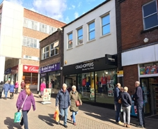 1,157 SF High Street Shop for Rent  |  12 Packers Row, Chesterfield, S40 1RB