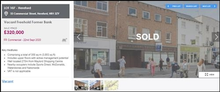 2,006 SF High Street Shop for Sale  |  55 Commercial Street, Hereford, HR1 2DJ