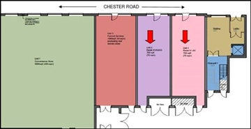 750 SF Out of Town Shop for Rent  |  Unit 3 Chelmund Cross Village Centre, Chelmunds Cross, B37 7TR