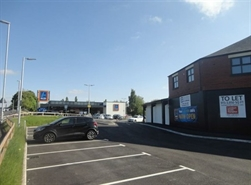 1,238 SF High Street Shop for Rent  |  Unit 2, Universal House, Elizabethan Way, Milnrow, OL16 4BU