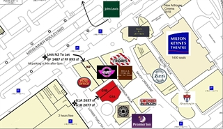 Shopping Centre Unit for Rent  |  Units G1A & G1B Theatre District, Milton Keynes, MK9 3PT