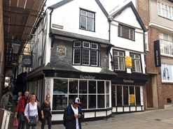 483 SF High Street Shop for Rent  |  1-2 Catherine Street, Exeter, EX1 1EU