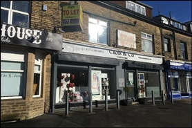 996 SF High Street Shop for Rent  |  219-221 Bingley Road, Shipley, BD18 4DH
