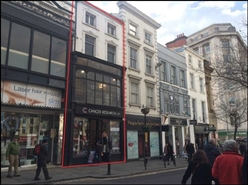 848 SF High Street Shop for Rent  |  10 Bold Street, Liverpool, L1 4DS