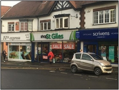 1,305 SF High Street Shop for Rent  |  113 Parade, Sutton Coldfield, B72 1PU