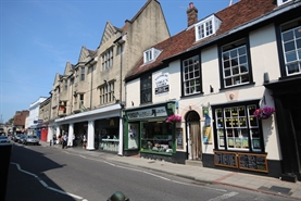 685 SF High Street Shop for Rent  |  17 Winchester Street, Salisbury, SP1 1HB