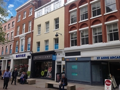 1,749 SF High Street Shop for Rent  |  14 St Anns Square, Manchester, M2 7HQ