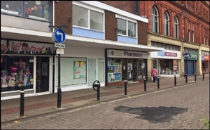 485 SF High Street Shop for Rent  |  78 Bradshawgate, Leigh, WN7 4NP