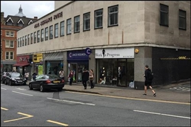 600 SF High Street Shop for Rent  |  Pearl House, Nottingham, NG1 6BS