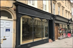 630 SF High Street Shop for Rent  |  25 Milsom Street, Bath, BA1 1DG