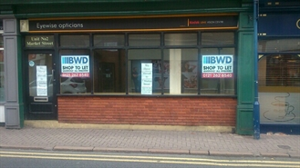 700 SF High Street Shop for Rent  |  Unit 2 Crown Centre, Stourbridge, DY8 1YD