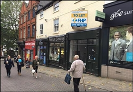 364 SF High Street Shop for Rent  |  11 Packers Row, Chesterfield, S40 1RB