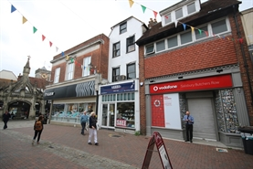 521 SF High Street Shop for Rent  |  28 Butcher Row, Salisbury, SP1 1EP