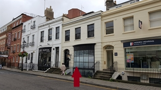 638 SF High Street Shop for Rent  |  13 Regent Street, Cheltenham, GL50 1HE