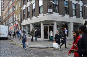 950 SF High Street Shop for Rent  |  42 - 44 Broadwick Street, London, W1F 7AE